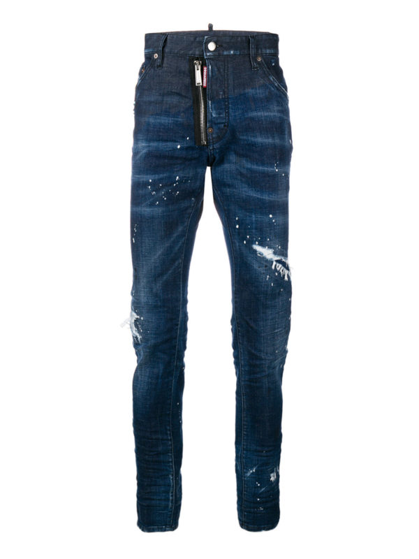 DSQUARED2: Straight Leg Jeans - Cool Guy - Dunkles Jeansblau