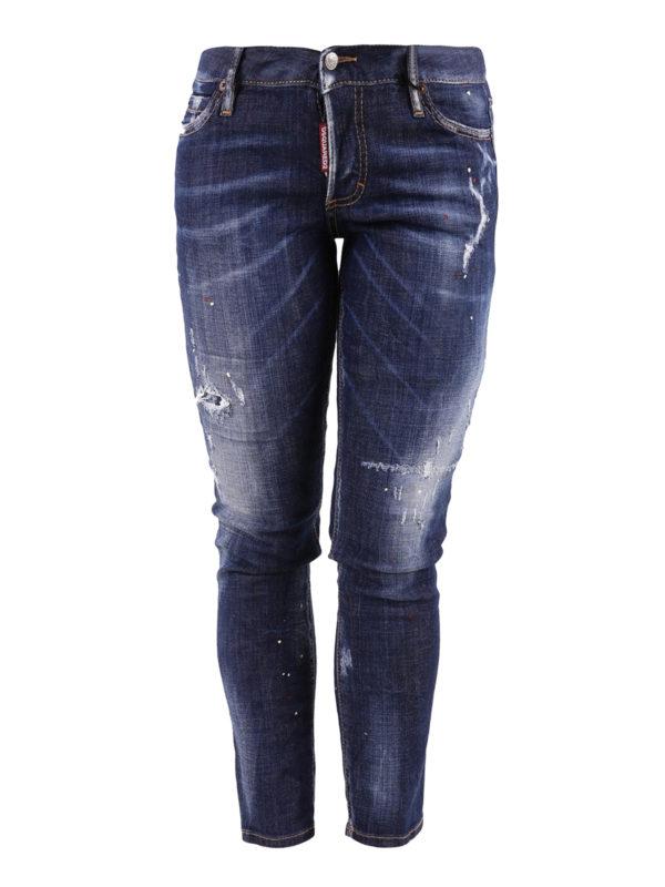 DSQUARED2: Straight Leg Jeans - Jennifer Cropped
