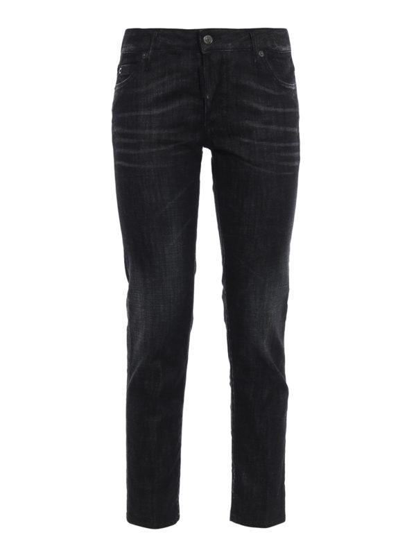 DSQUARED2: Straight Leg Jeans - Straight Leg Jeans - Schwarz