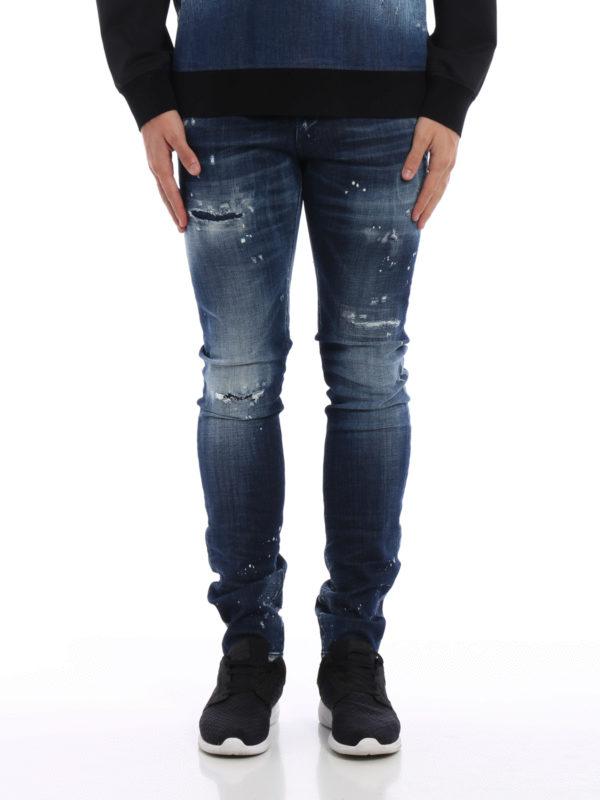Dsquared2: Straight Leg Jeans online - Straight Leg Jeans - Dark Wash