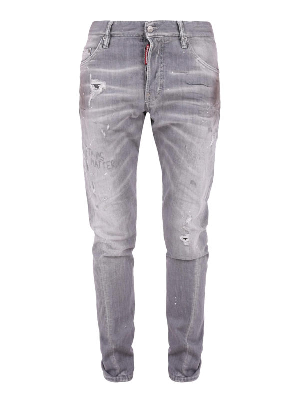 DSQUARED2: Straight Leg Jeans - Straight Leg Jeans - Grau