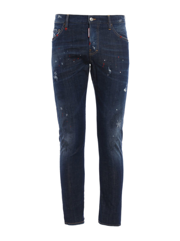 Dsquared2: Straight Leg Jeans - Straight Leg Jeans - Dark Wash