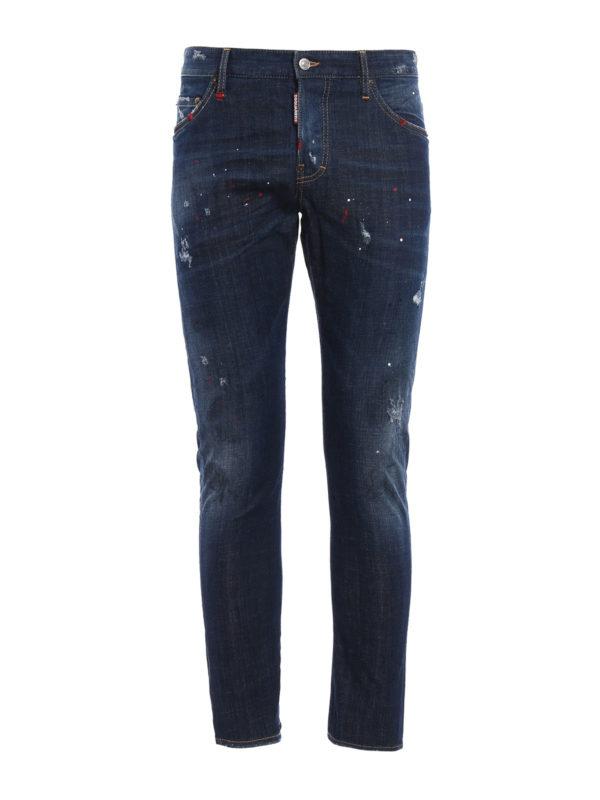 Dsquared2: Straight Leg Jeans - Straight Leg Jeans - Dark Wash