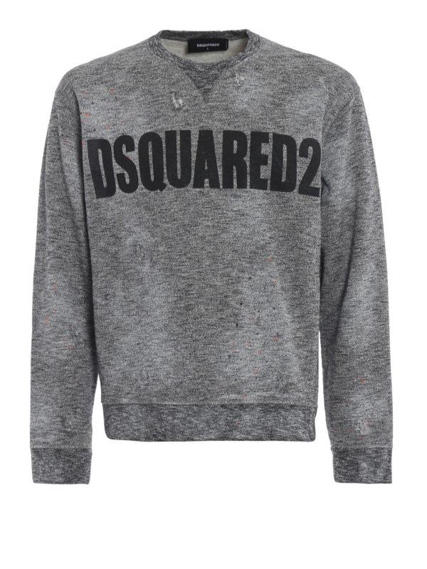 DSQUARED2: Sweatshirts und Pullover - Sweatshirt - Grau