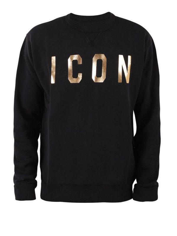 DSQUARED2: Sweatshirts und Pullover - Sweatshirt - Schwarz