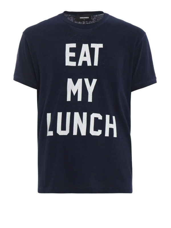 DSQUARED2: T-shirts - T-Shirt - Blau