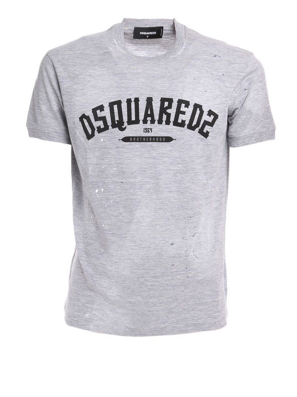 Outlet Clearance Buy logo-printed T-shirt - White Dsquared2 Outlet Ebay r4rHzy3tMp