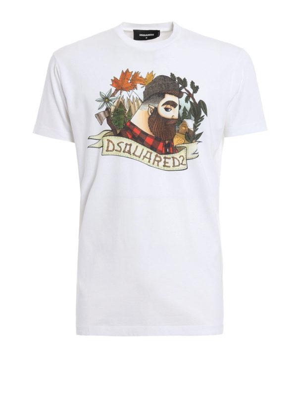 Dsquared2: T-shirts - T-Shirt - Gemustert