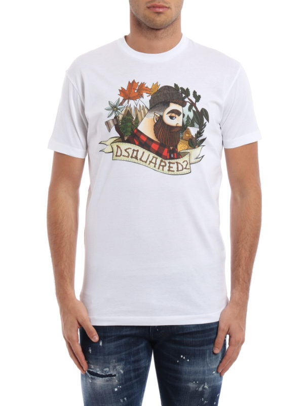 Dsquared2: T-shirts online - T-Shirt - Gemustert