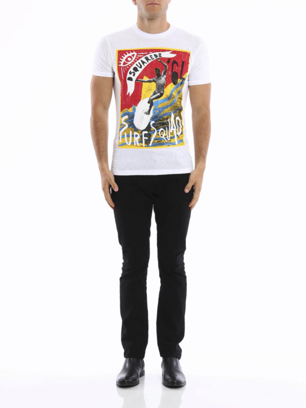 Dsquared2: t-shirts online - Printed cotton T-shirt