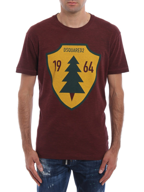 Dsquared2: T-shirts online - T-Shirt - Einfarbig