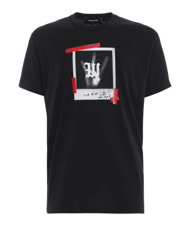 DSQUARED2: T-shirts - T-Shirt - Schwarz