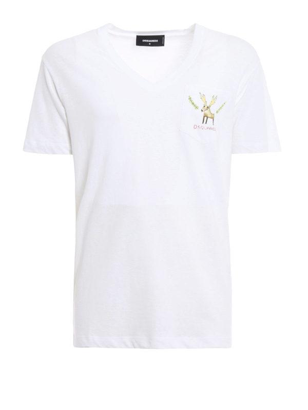 Dsquared2: T-shirts - T-Shirt - Weiß