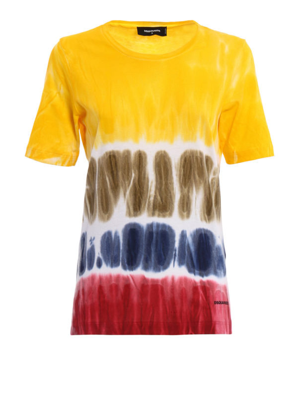 Tie dye print t shirt by dsquared2 t shirts ikrix for Tie dye t shirt printing