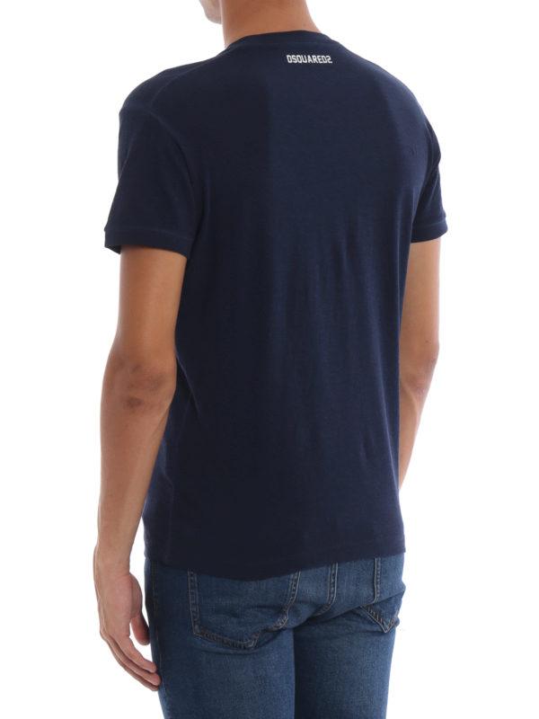 T-Shirt - Blau shop online: DSQUARED2