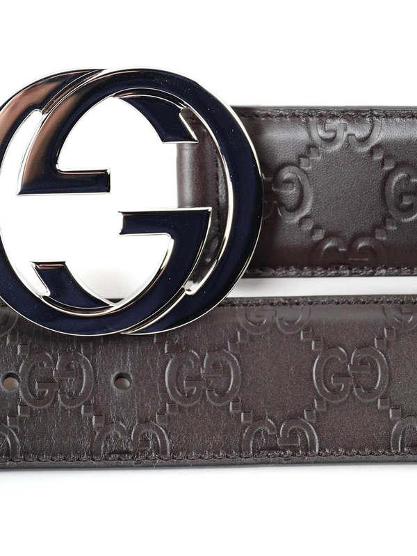 Embossed GG belt shop online: Gucci