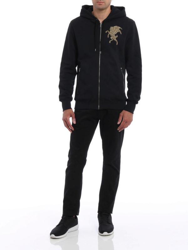 Sweatshirt - Einfarbig shop online: ALEXANDER MCQUEEN