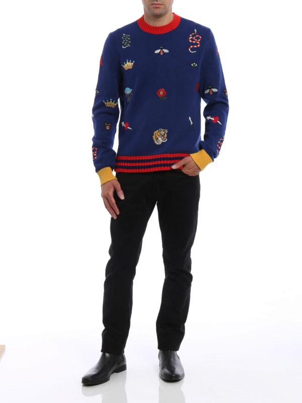 Rundhalspullover - Gemustert shop online: Gucci