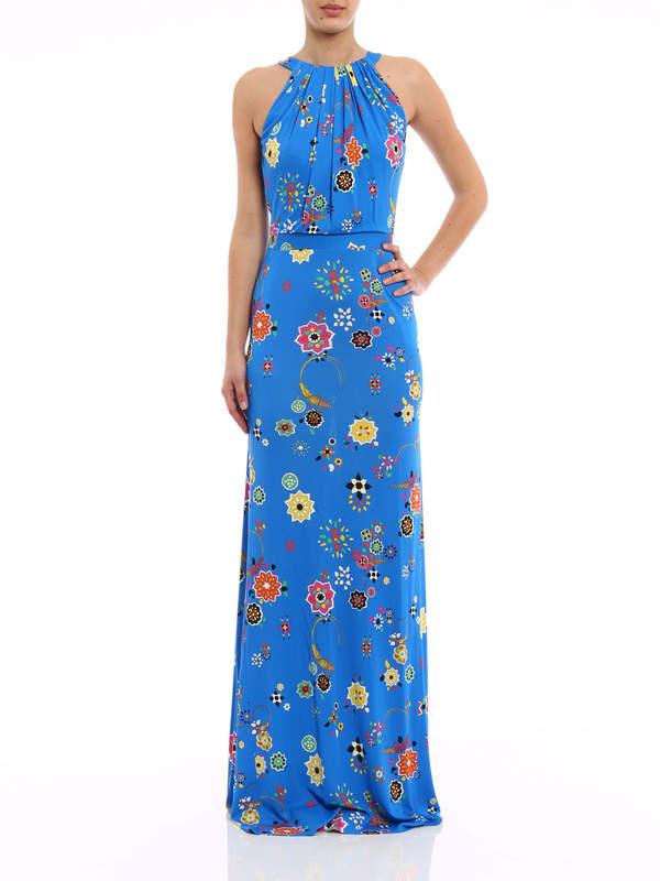 Emilio Pucci: maxi dresses online - Floral print maxi dress