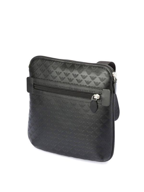 EMPORIO ARMANI: shoulder bags online - Printed leather flat messenger bag