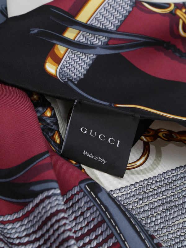 Equestrian print scarf shop online: GUCCI