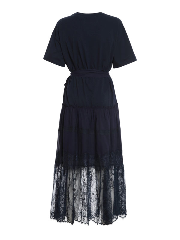 T-shirt dress with lace