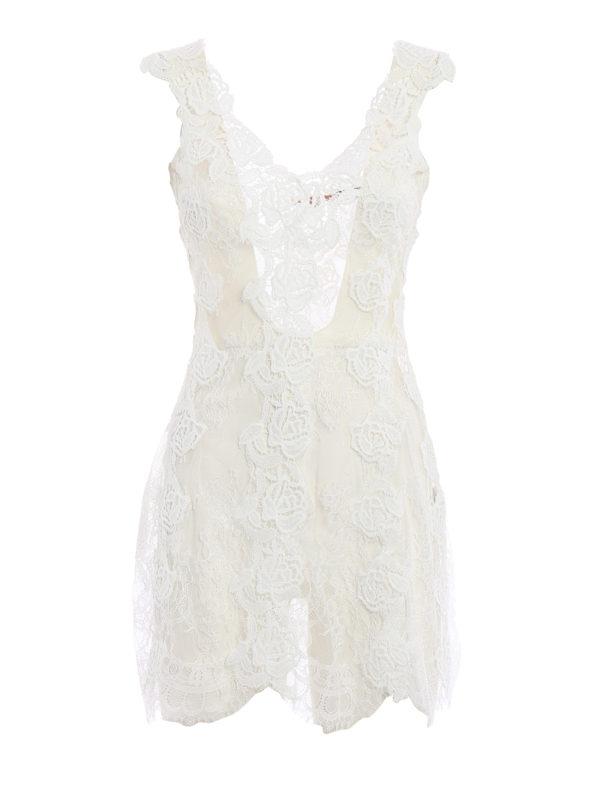 Ermanno Scervino: Kurze Kleider - Kurzes Kleid - Weiß