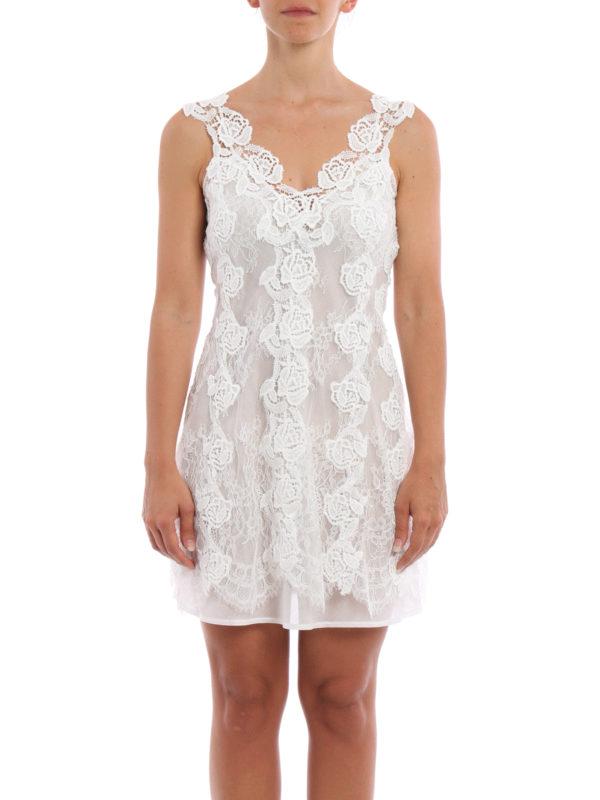 Ermanno Scervino: Kurze Kleider online - Kurzes Kleid - Weiß