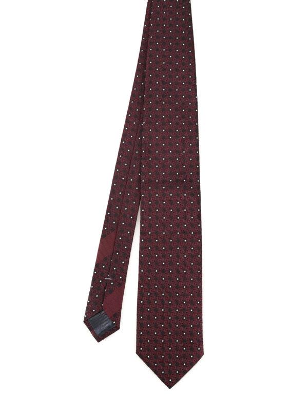 0f6a8919 Ermenegildo Zegna - Polka dot burgundy silk tie - ties & bow ties ...