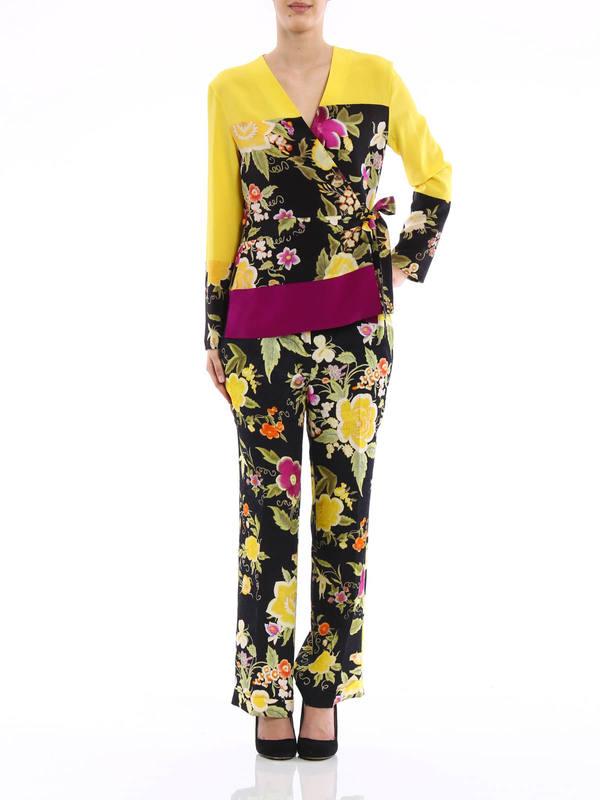 Etro: blouses online - Tie silk blouse