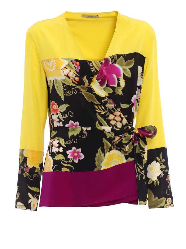 Etro: blouses - Tie silk blouse