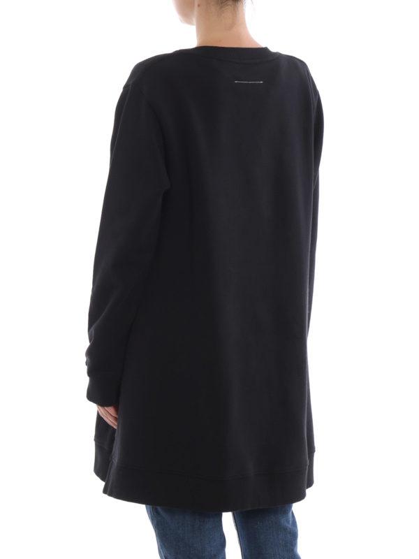 Sweatshirt - Schwarz shop online: MM6 MAISON MARGIELA