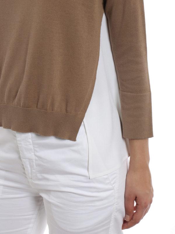 FABIANA FILIPPI buy online Silk panelled cotton sweater