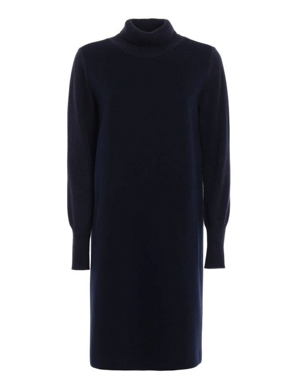 Fabiana Filippi: knee length dresses - Scuba dress with knitted details