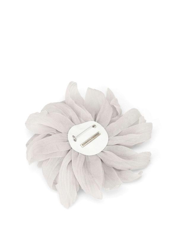 FABIANA FILIPPI: Brooches online - Silk chiffon flower brooch