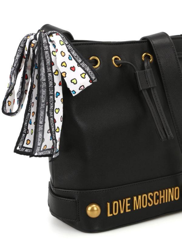 design intemporel b3816 a0d66 Love Moschino - Sac Bandoulière - Noir - Sacs bandoulière ...