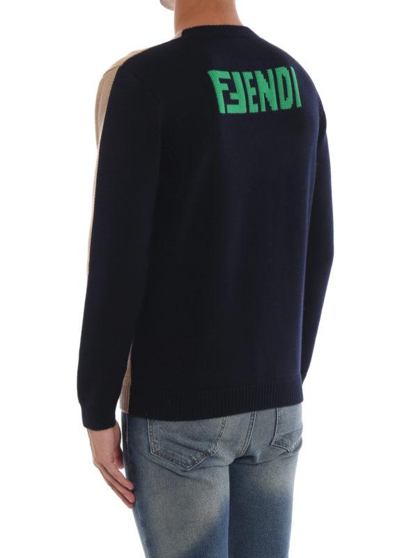 Rundhalspullover - Hellbraun shop online: FENDI