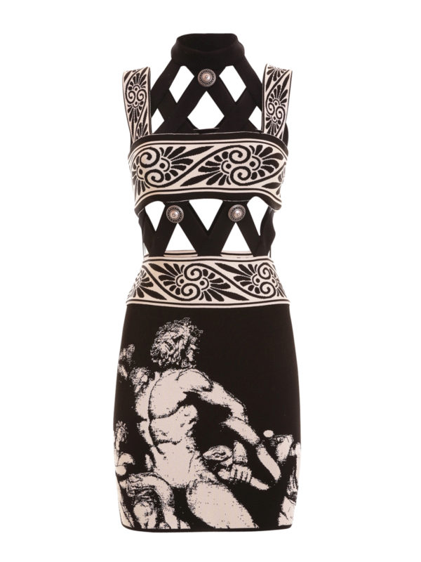Fausto Puglisi: short dresses - Cut-out knitted short dress