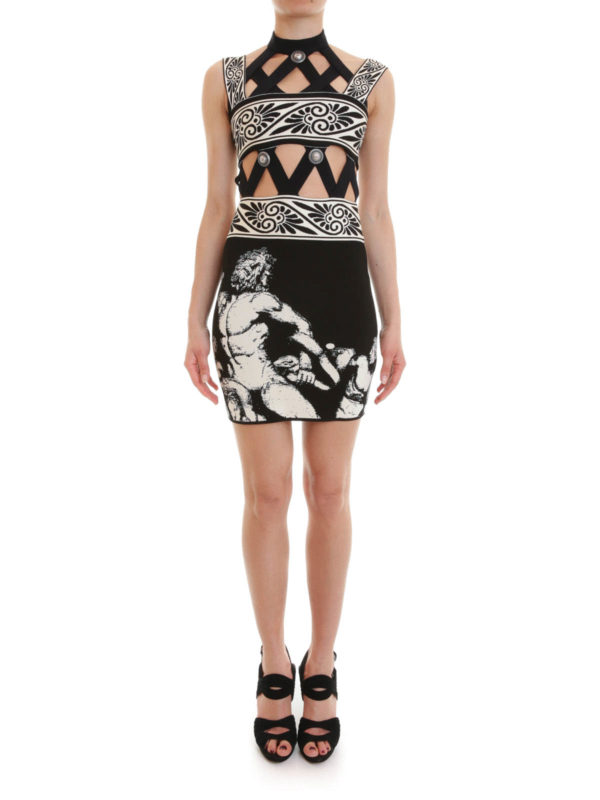 Fausto Puglisi: short dresses online - Cut-out knitted short dress