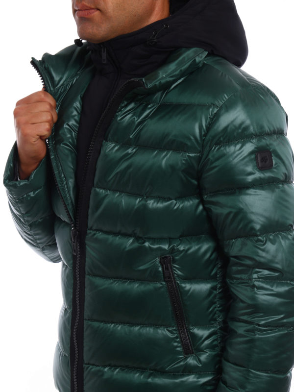 Fay buy online Double-front hooded puffer jacket