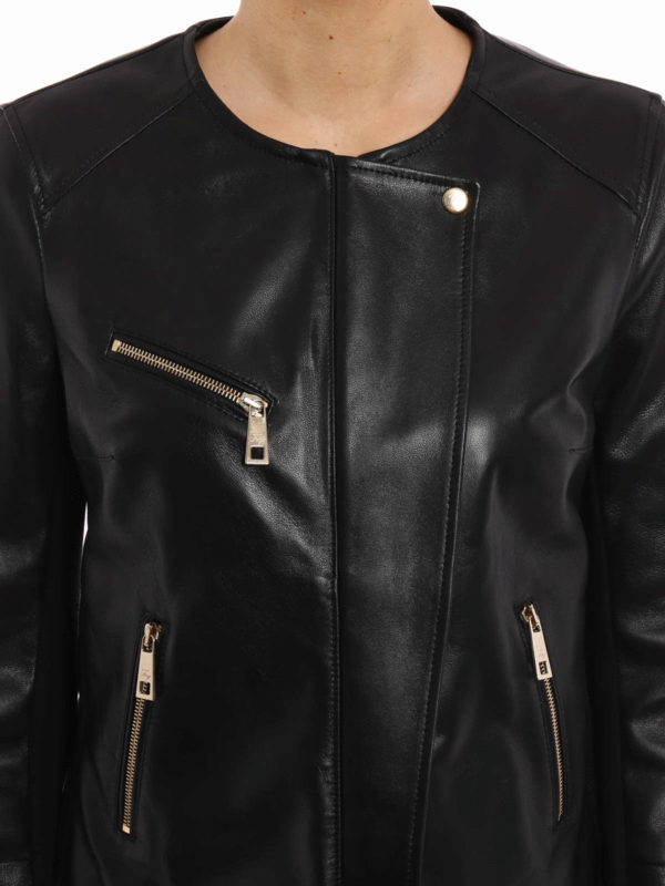 FAY buy online Leather and jersey jacket