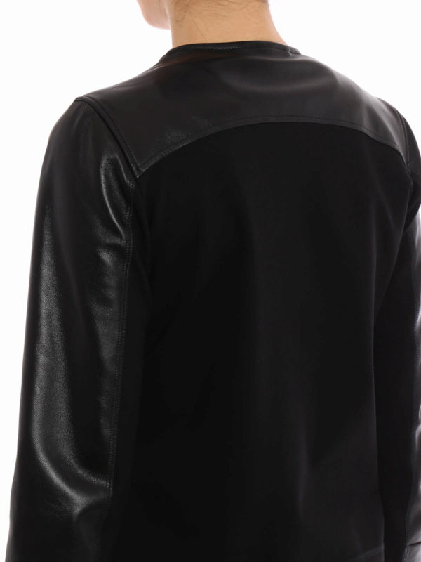 iKRIX FAY: Leather and jersey jacket