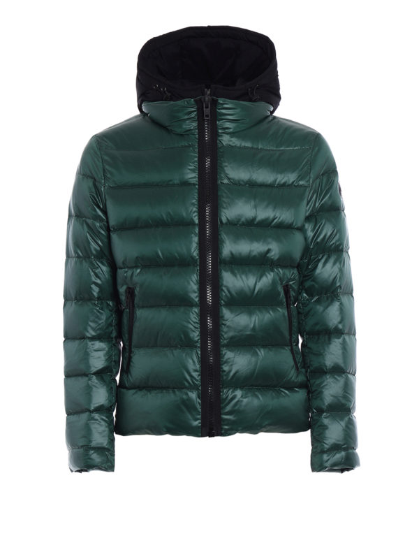 Fay: padded jackets - Double-front hooded puffer jacket