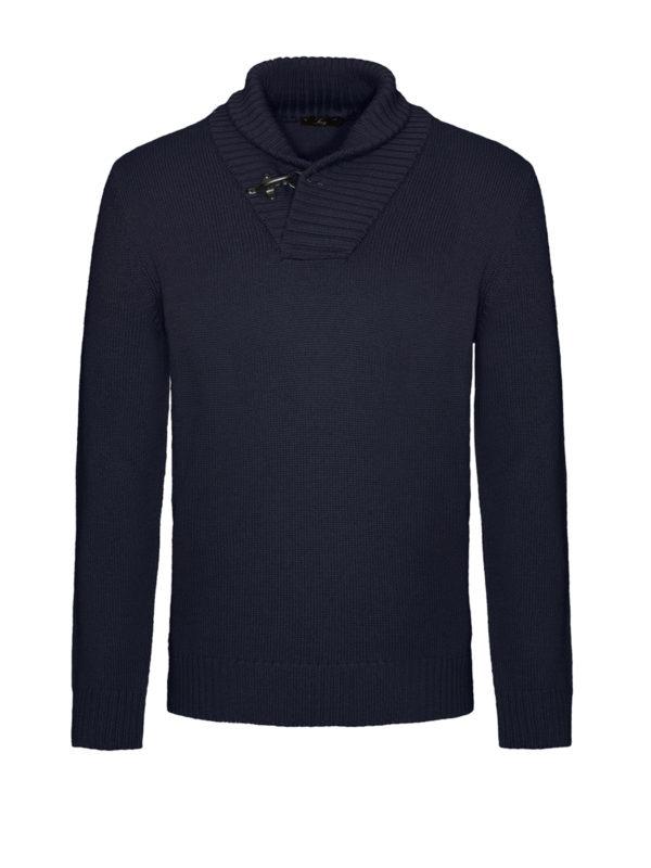 FAY: Turtlenecks & Polo necks - Ribbed collar wool sweater