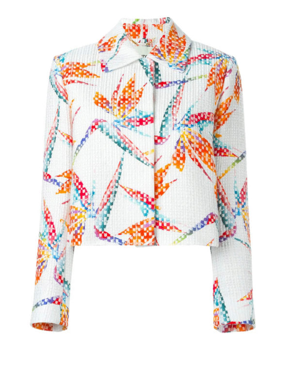 Fendi: blazers - Bird of Paradise print jacket