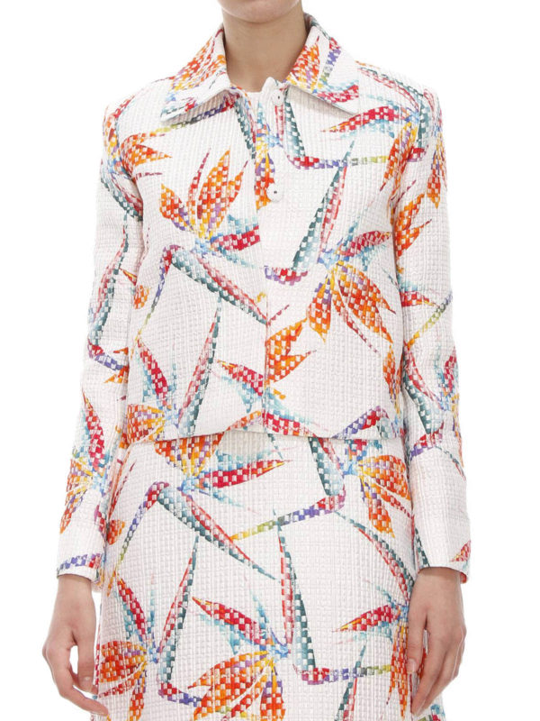 Fendi: blazers online - Bird of Paradise print jacket