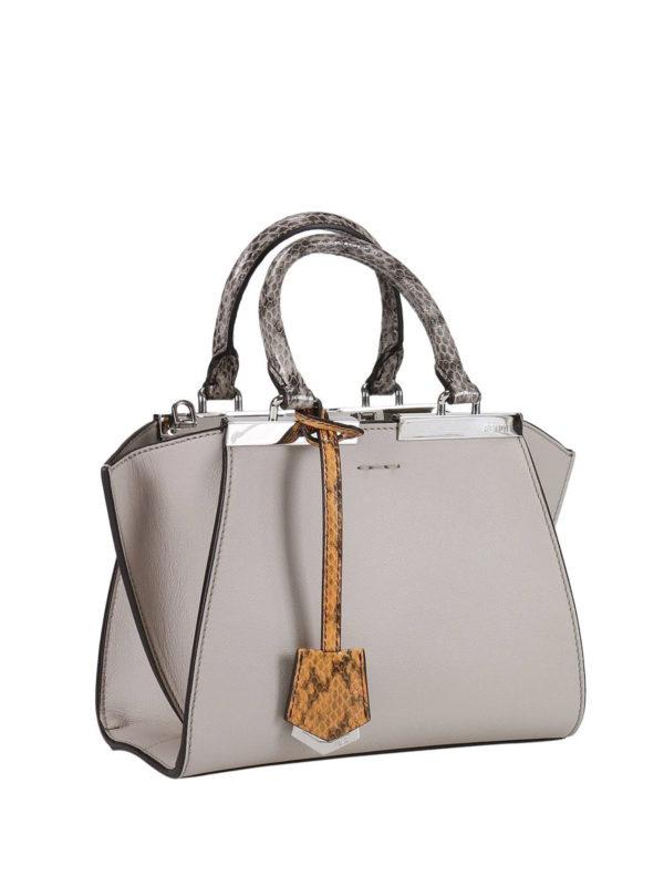 FENDI: Handtaschen online - Shopper - Hellgrau