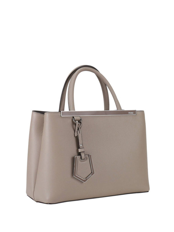 Fendi: Handtaschen online - Shopper - Grau