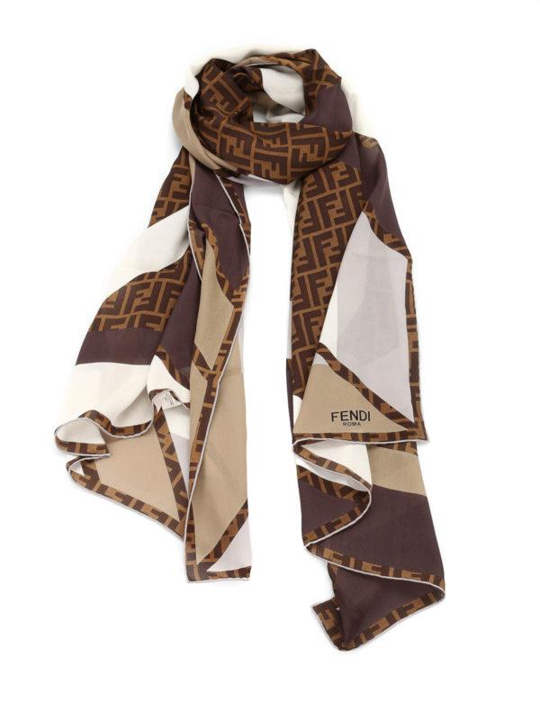 silk zucca logo scarf by fendi scarves ikrix