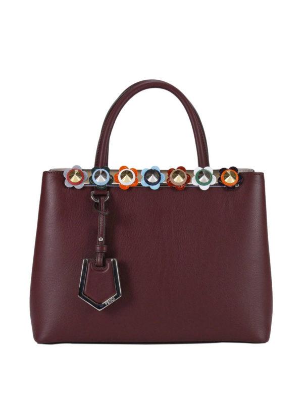 Fendi: Handtaschen - Shopper - Dunkelrot